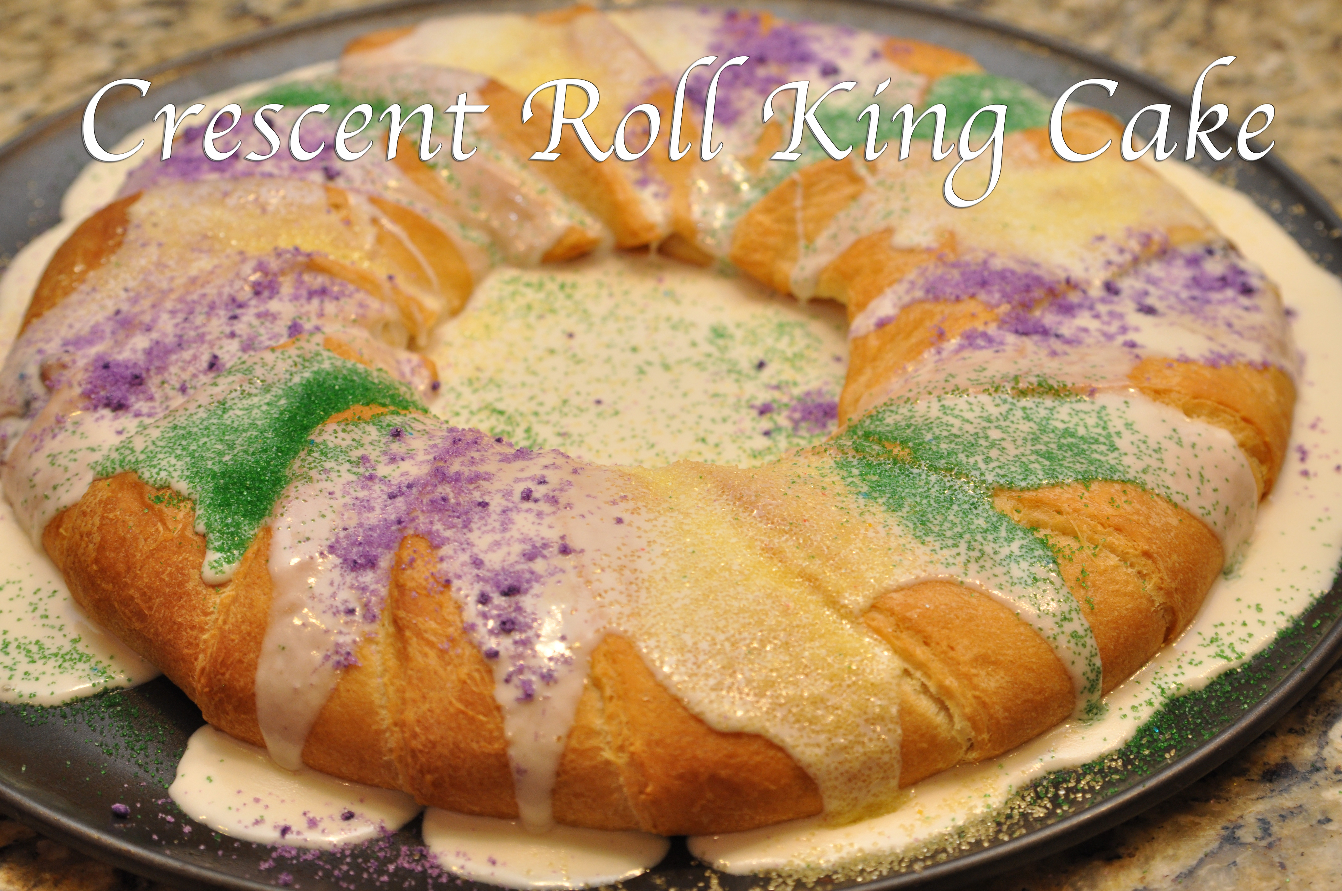 Crescent Roll King Cake