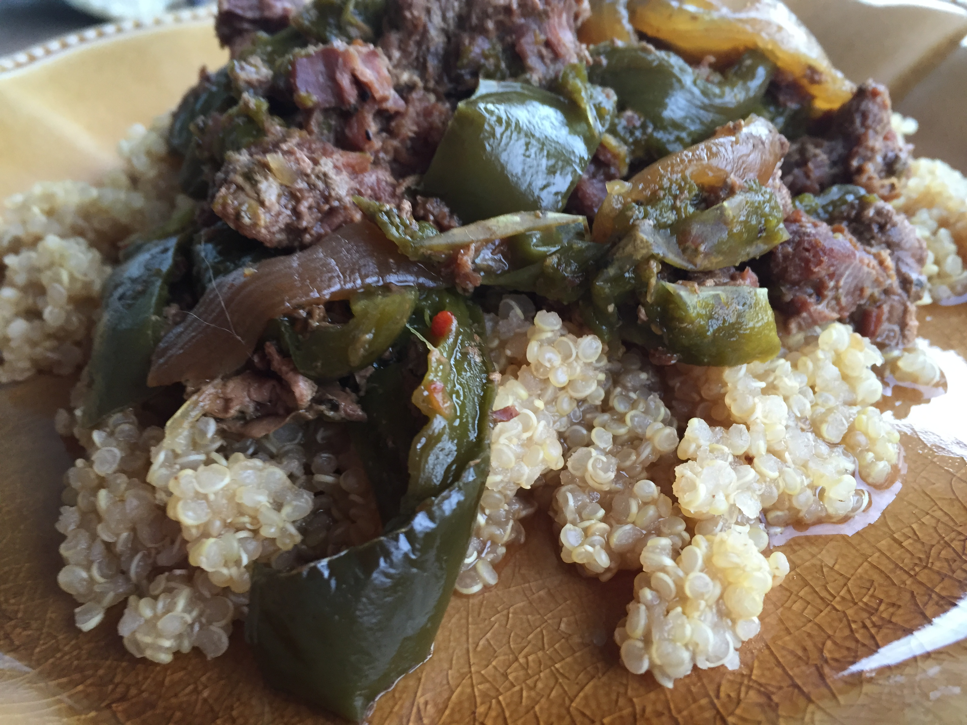 Slow Cooker Pepper Steak | Mama, Can I Lick the Spoon?